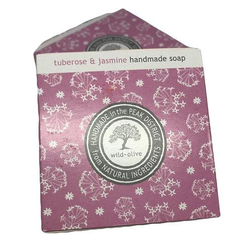Wild Olive Handmade Vegan Soap - Tuberose and Jasmine