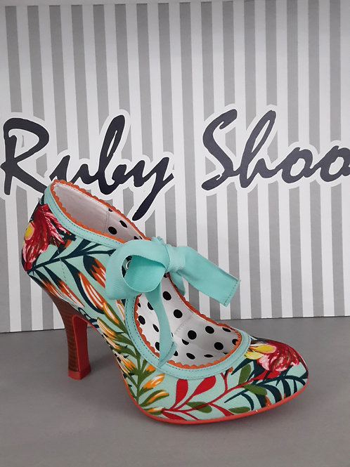 Ruby Shoo Willow Aqua Heel