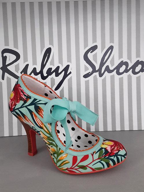 Ruby Shoo Willow Aqua Heel