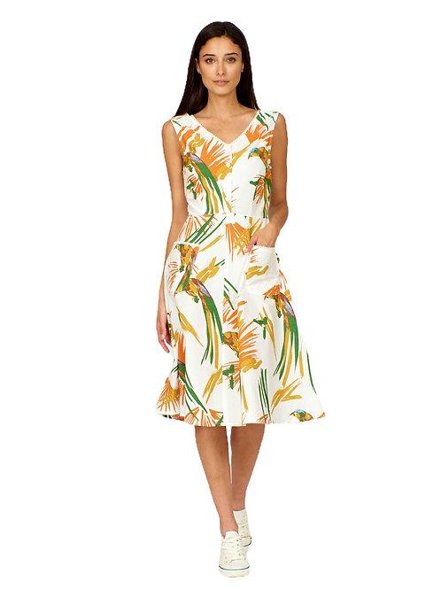 Pretty Vacant Harriet Parrot Print Dress