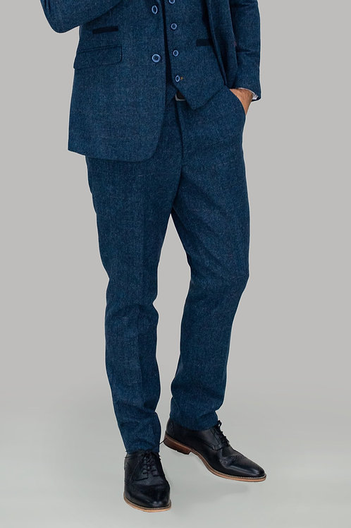 Cavani Carnegi Blue Check Tweed Trousers