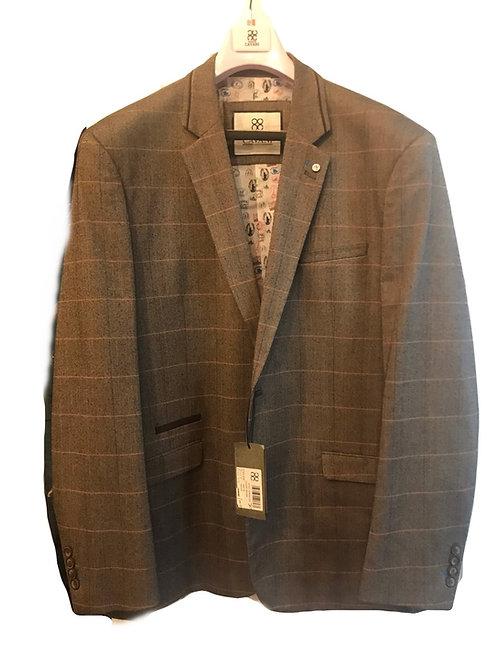 Cavani Carera Brown Check Jacket
