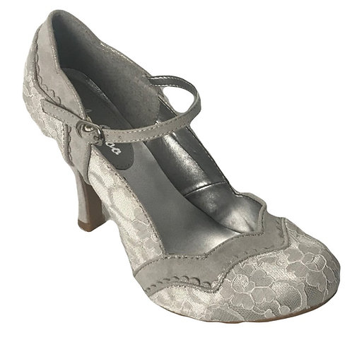 Ruby Shoo Imogen Silver Wedding Shoe