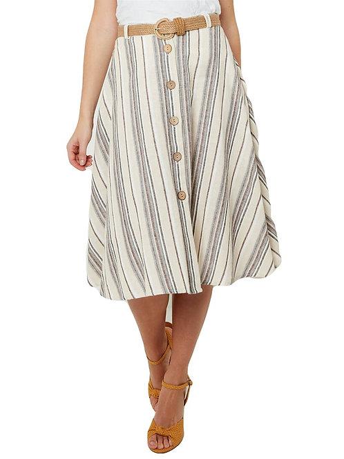 Joe Browns Linen Mix Stripe Skirt
