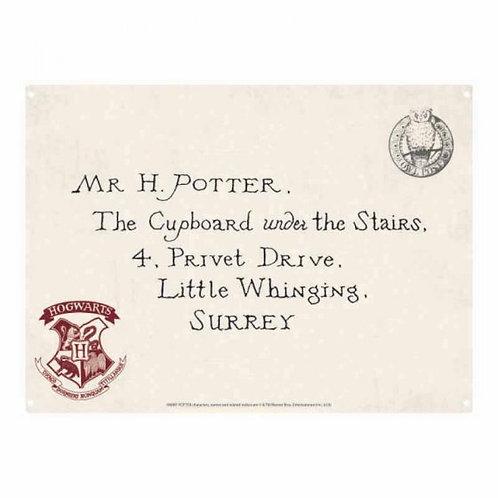 Harry Potter Tin Sign - Letter
