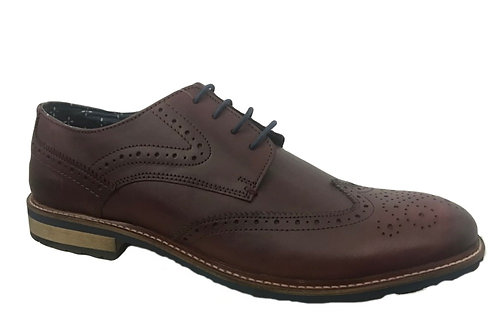 Joe Browns Men's Burgundy Brogue
