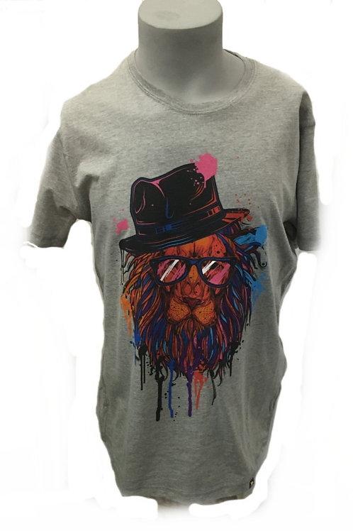 Joe Browns Lions Head Grey Men's T-Shirt