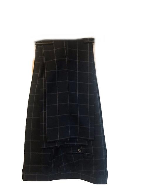 Cavani Macy Navy Check Trousers
