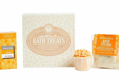 Wild Olive Bath Treats- Mandarin & Bergamot
