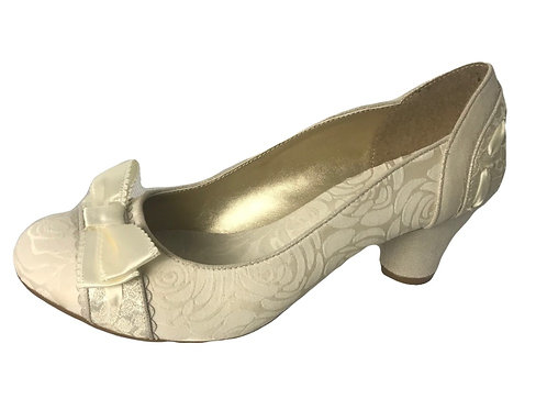 Ruby Shoo Hayley Cream Wedding Shoe