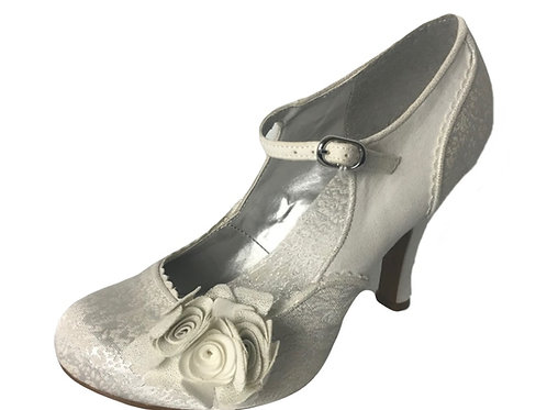 Ruby Shoo Emily Silver Wedding Shoe