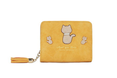 Women's  Cute Cat Small Purse Wallet 12294-c
