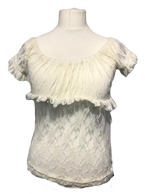 Burleska Gypsy Cream Lace Top