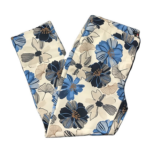 Paramour Blue & White Floral Trousers