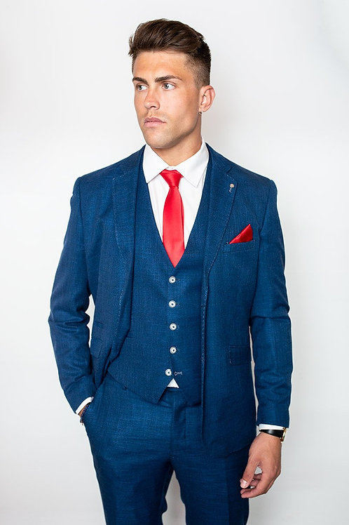 Cavani Miami Blue Slim Fit Blazer