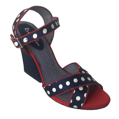 Ruby Shoo Evie Navy Spotty Heel