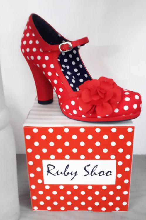 Ruby Shoo Hannah Red Spot