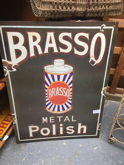 Large Repro Brasso Sign