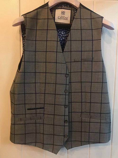 Cavani Macy Grey Check Waistcoat