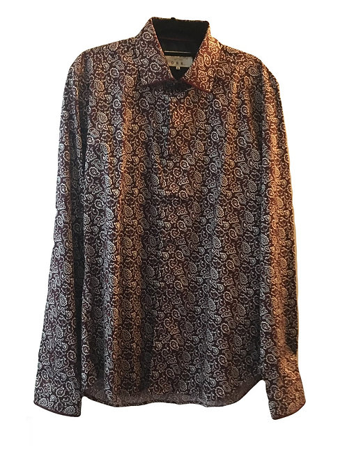 Mish Mash Kalix Burgundy Long Sleeve Shirt