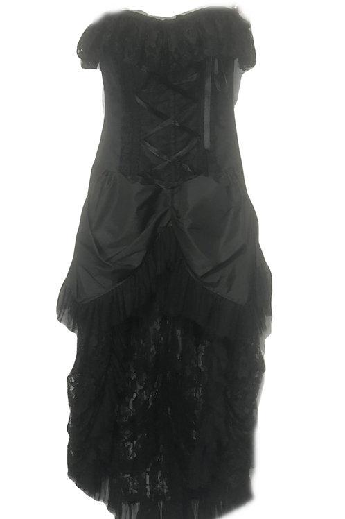 Burleska Elizabeth overbust burlesque corset in black taffeta