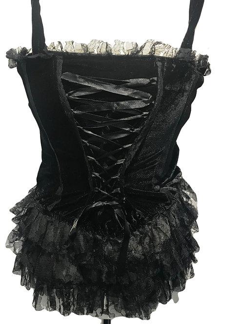 Burleska Verity Black Velvet Top