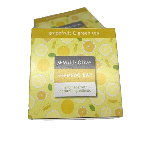 Wild Olive Handmade Shampoo Bar - Grapefruit & Green Tea