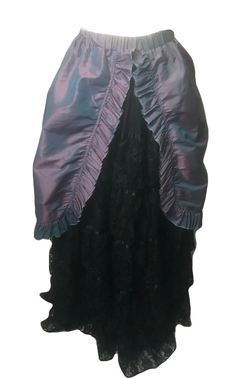Burleska Long Blue Gothic Victorian Style Skirt