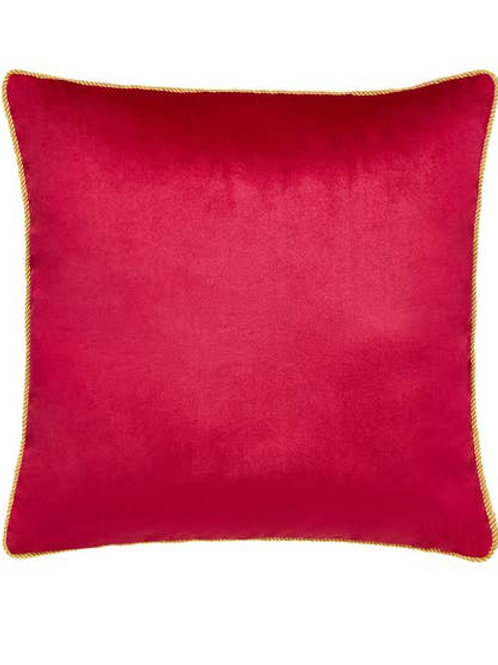 Joe Browns Jumbo Velvet Reversible Cushion - Black / Pink