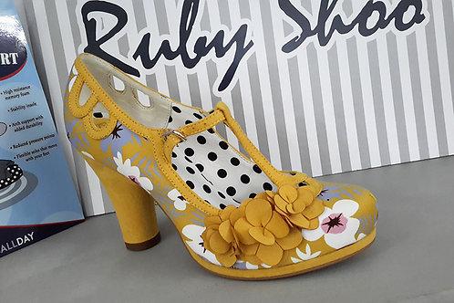 Ruby Shoo Valerie Mustard