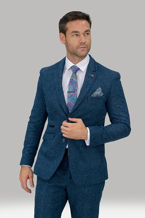 Cavani Carnegi Blue Tweed Blazer