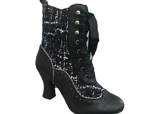 Ruby Shoo Minnie Victorian Blue  Boot