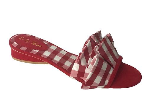 Ruby Shoo Alena Red Slide