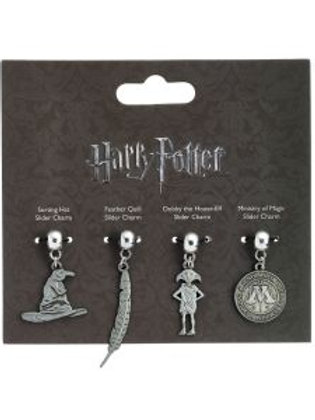 Harry Potter  Charm Set - Sorting Hat, Quill, house elf & Ministry of Magic