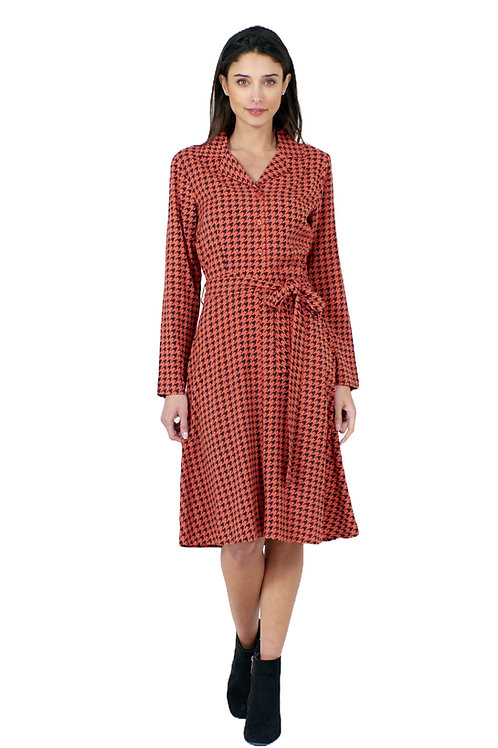 Pretty Vacant Maria Dress Dogtooth