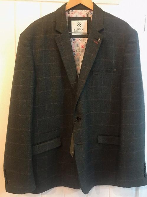 Cavani Kemson Olive Check Tweed Jacket