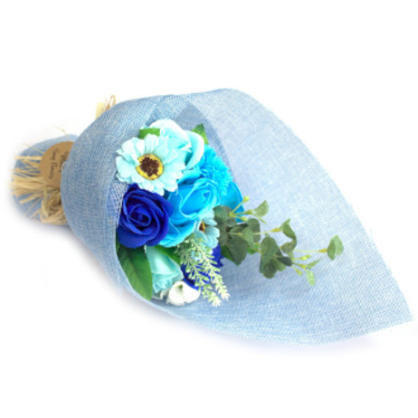 Standing Soap Flower Bouquet - Blue