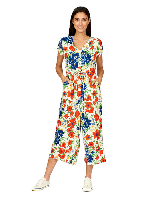 Pretty Vacant  Flower Show Print Playsuit