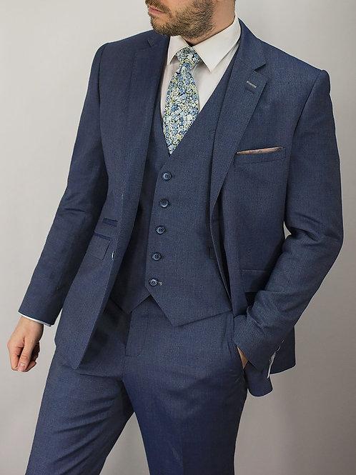 Cavani Steele Blue Slim Fit Jacket