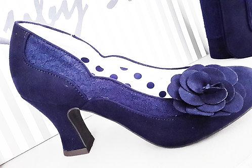 Ruby Shoo Chrissie Navy Shoe