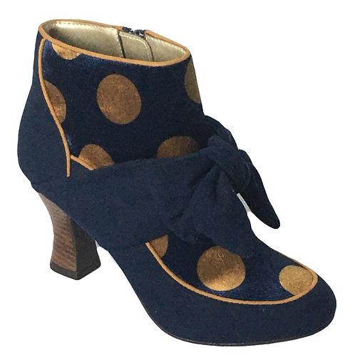 Ruby Shoo Seren Blue Spot Boot