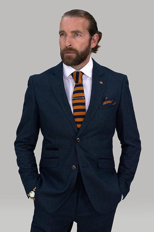 Cavani Martez Navy Tweed Slim Fit Blazer