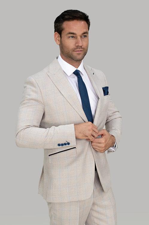 Cavani Caridi Cream Slim Fit Blazer