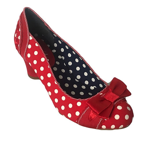 Ruby Shoo Hayley Red spot Shoe