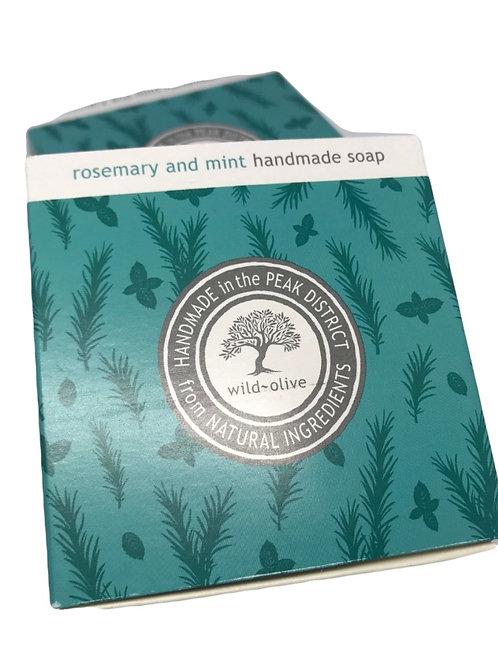 Wild Olive Handmade Vegan Soap - Rosemary and Mint