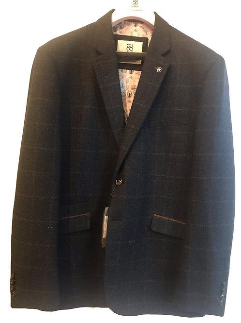 Cavani Kemson Navy Check Tweed Jacket