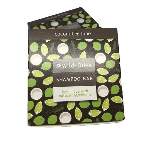 Wild Olive Handmade Shampoo Bar - Coconut & Lime
