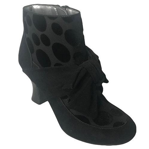 Ruby Shoo Seren Black Spot Boot
