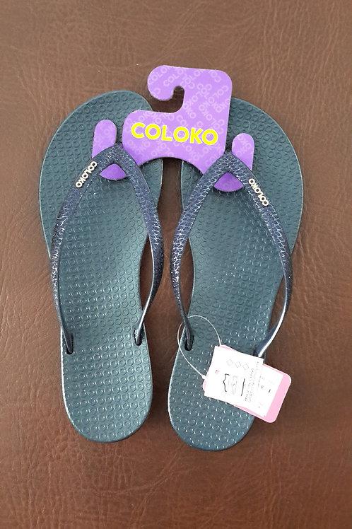 Coloko Flip Flops Navy Freesia