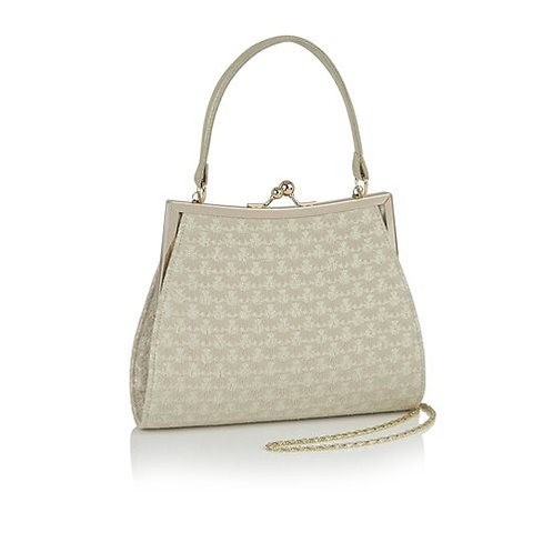 Ruby Shoo Toulouse Cream & Gold Handbag